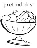 pretend playColoring Page