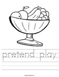 pretend play Worksheet