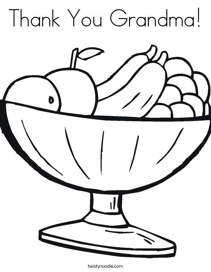 Thank You Grandma! Coloring Page