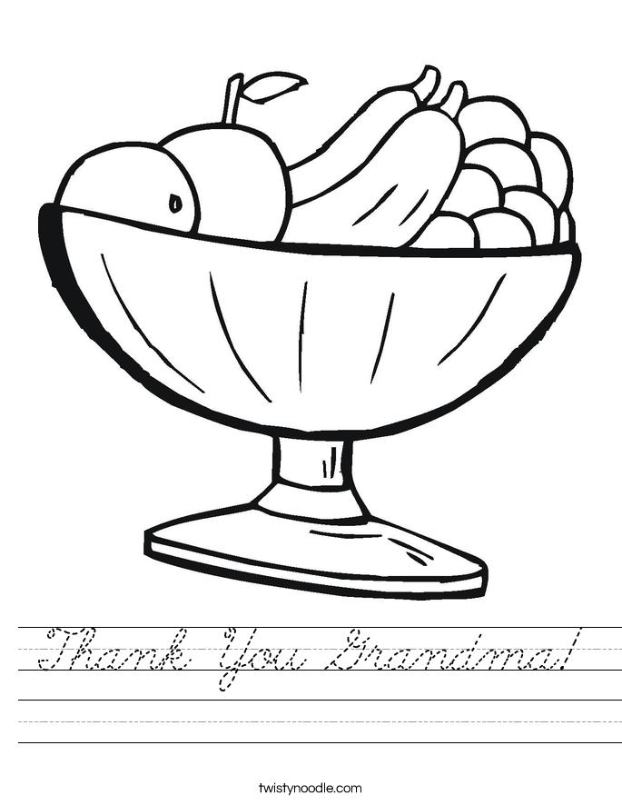 Thank You Grandma! Worksheet