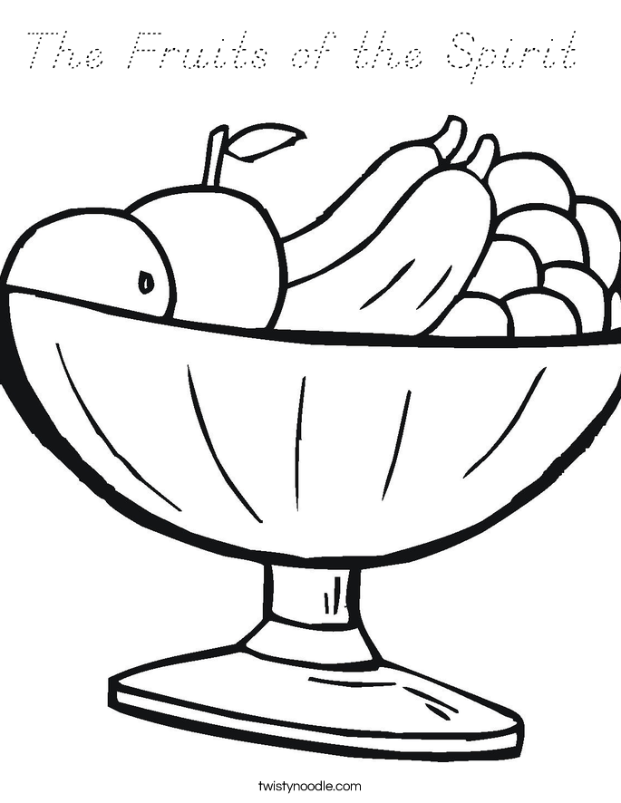 The Fruits of the Spirit  Coloring Page