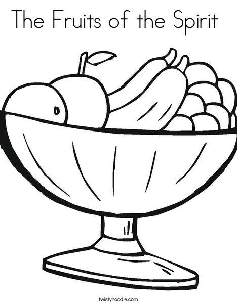 image. fruit bowl coloring page. fruit of the spirit ...