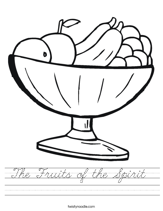 The Fruits of the Spirit  Worksheet