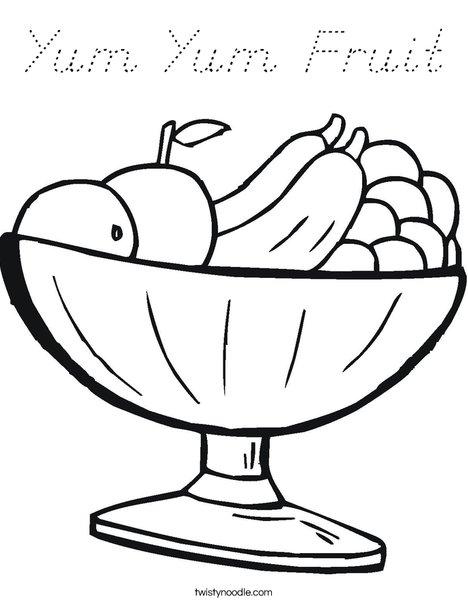 Fruit Bowl Coloring Page