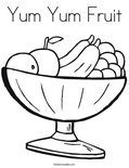 Yum Yum Fruit Coloring Page
