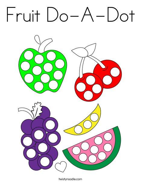 Fruit DoADot Coloring Page