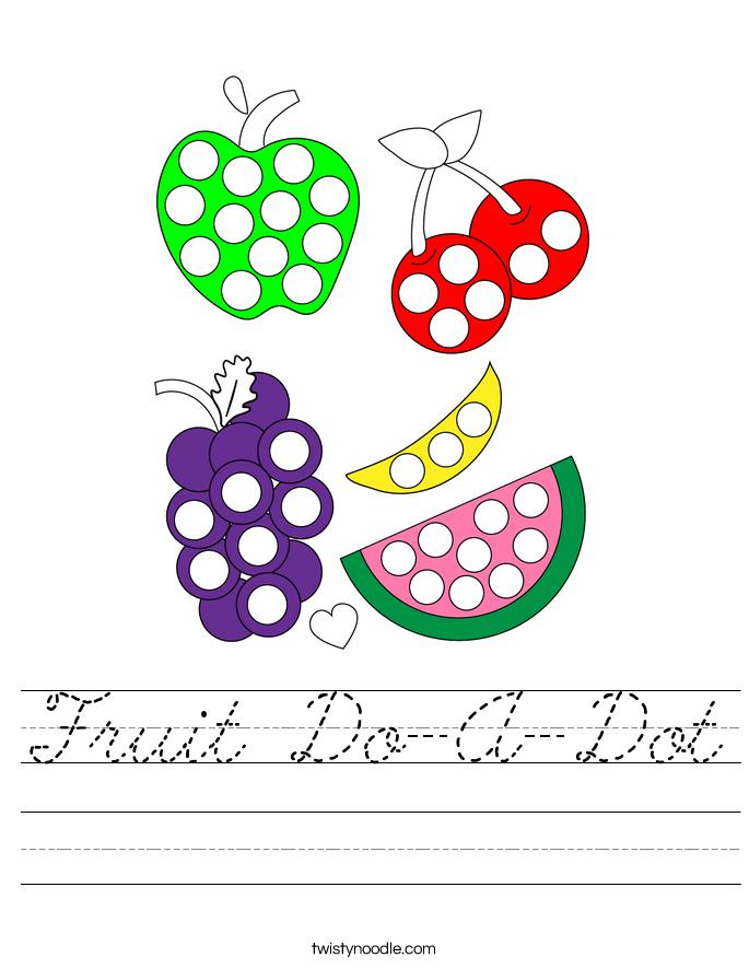 Fruit Do-A-Dot Worksheet
