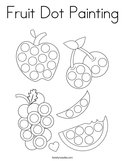Fruit Dot Painting Coloring Page