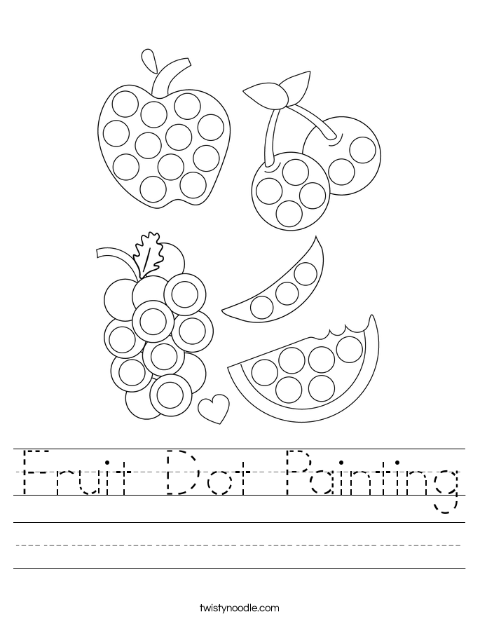 Fruit Dot Painting Worksheet