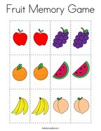 Fruit Memory Game Coloring Page