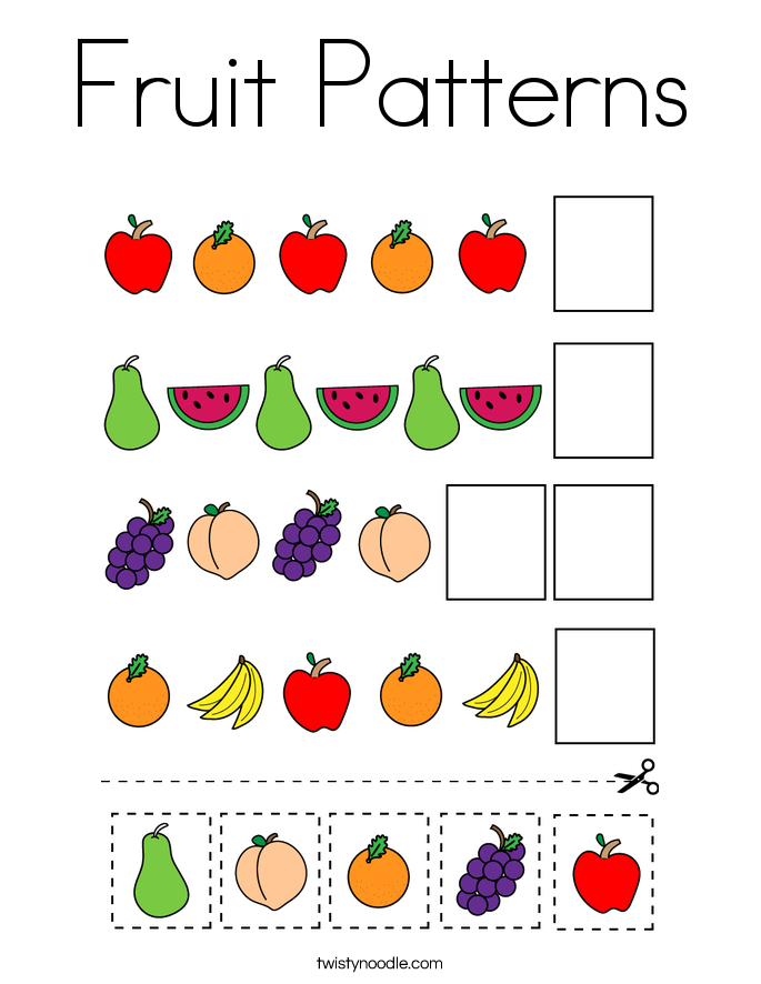 Fruit Patterns Coloring Page