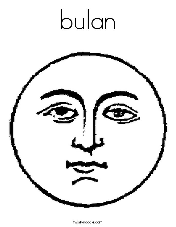 bulan Coloring Page