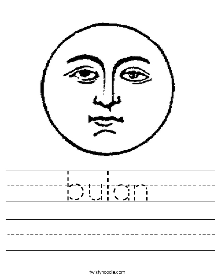 bulan Worksheet