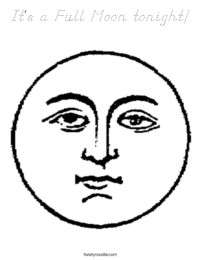 It's a Full Moon tonight! Coloring Page