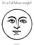 It's a Full Moon tonight!Coloring Page