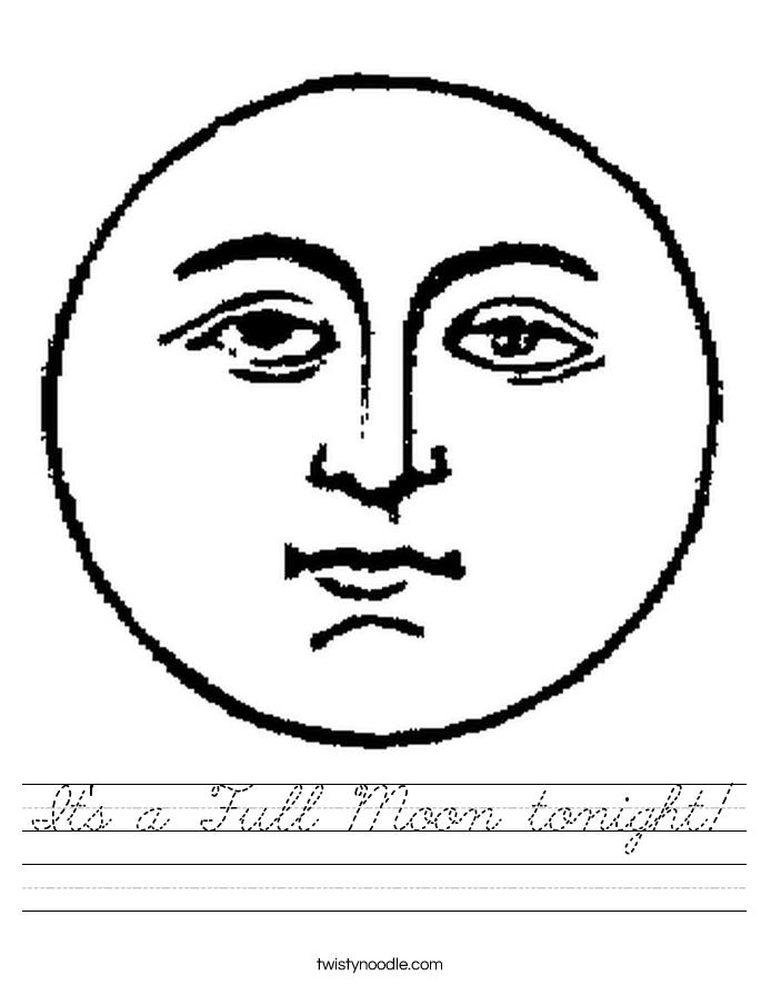 It's a Full Moon tonight! Worksheet