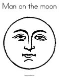 Man on the moonColoring Page
