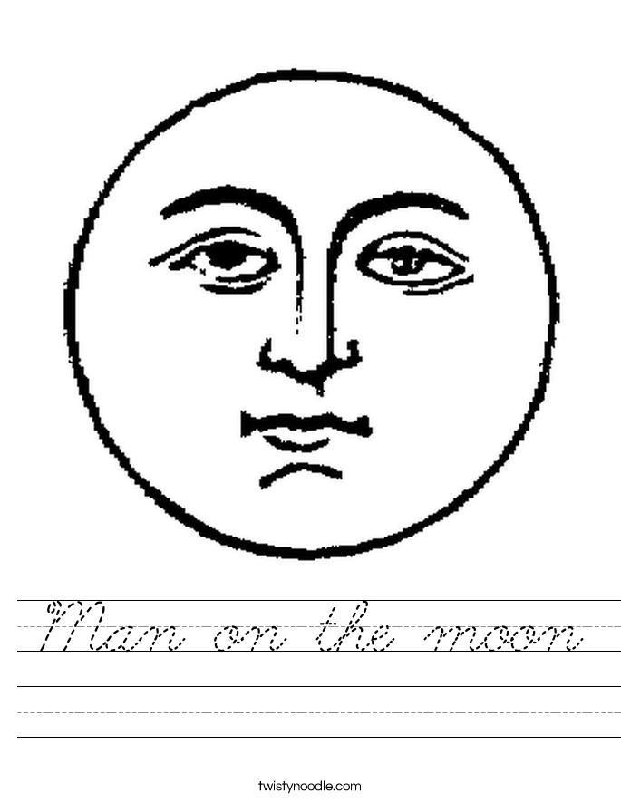 Man on the moon Worksheet