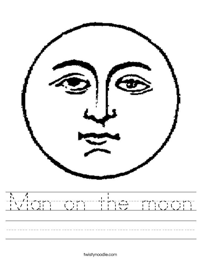 Man on the moon Worksheet