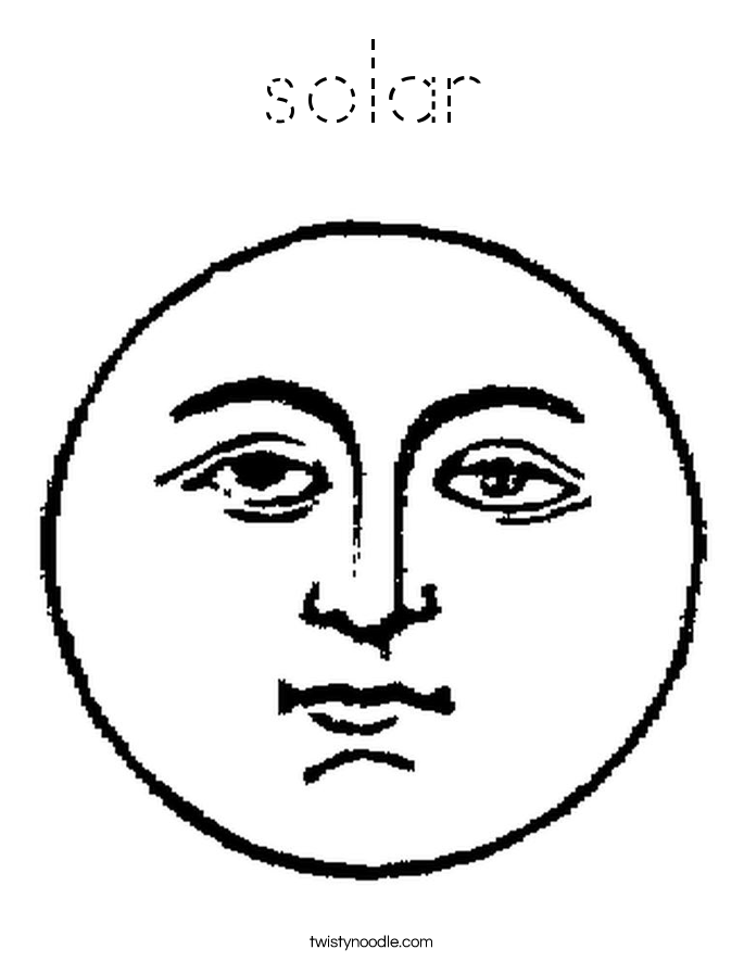 solar Coloring Page