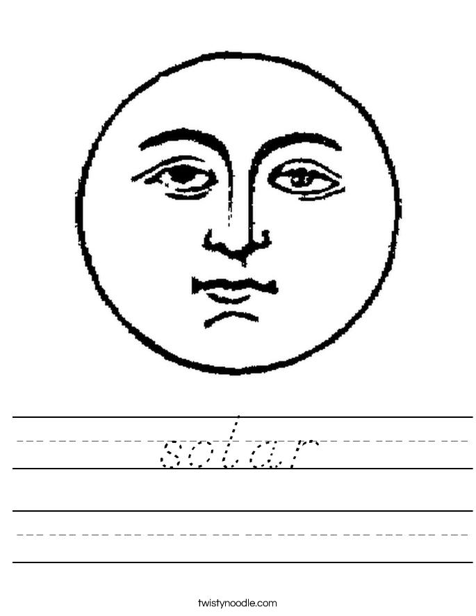 solar Worksheet