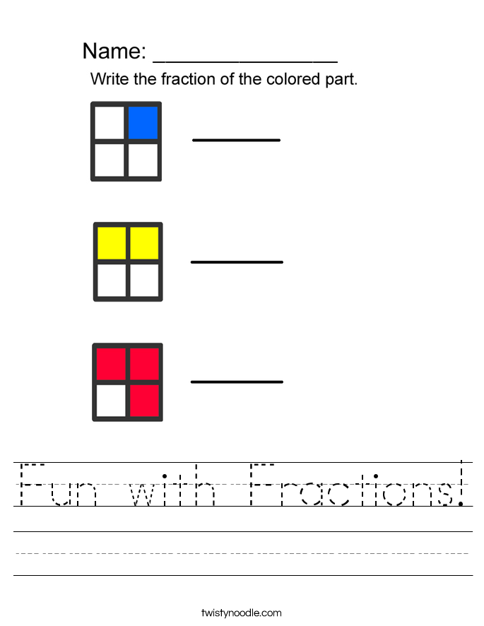 Fun with Fractions! Worksheet