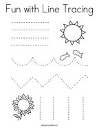 Fun with Line Tracing Coloring Page