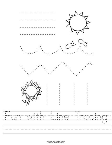 Fun with Line Tracing Worksheet