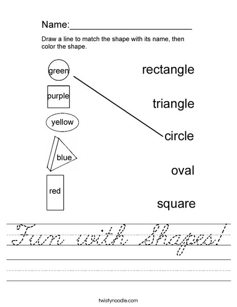 Fun with Shapes! Worksheet