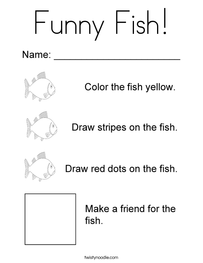 Funny Fish! Coloring Page