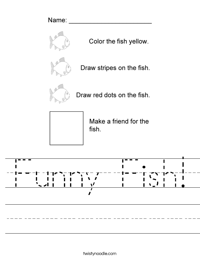 Funny Fish! Worksheet