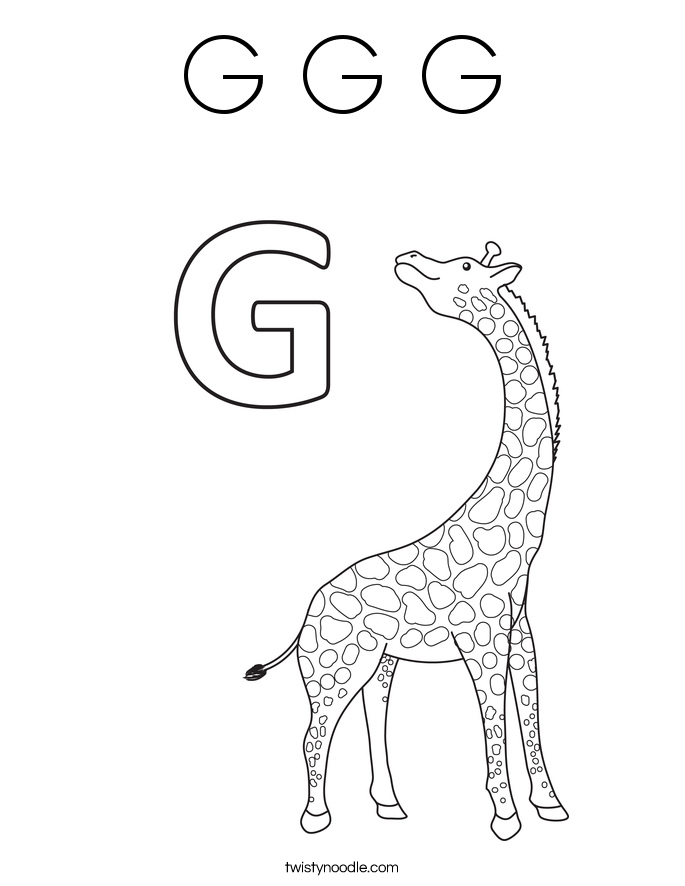 g coloring pages print - photo #28