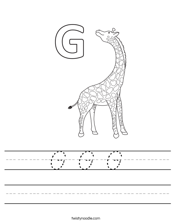 G G G Worksheet