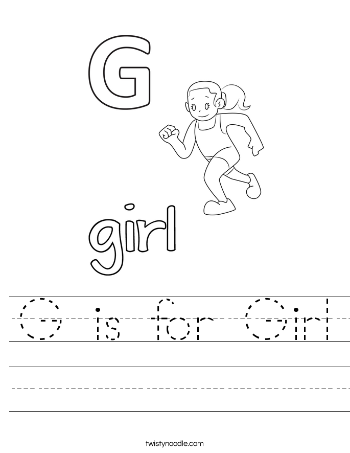 G is for Girl Worksheet