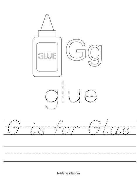 G is for Glue Worksheet