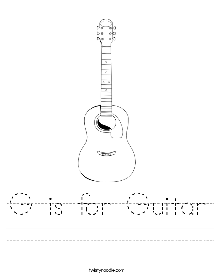 G is for Guitar Worksheet