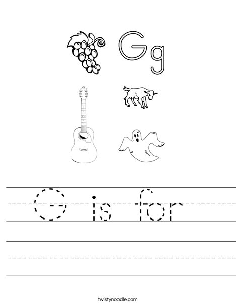 G is for Worksheet