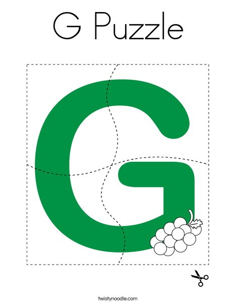 G Puzzle Coloring Page
