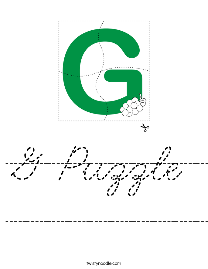 G Puzzle Worksheet