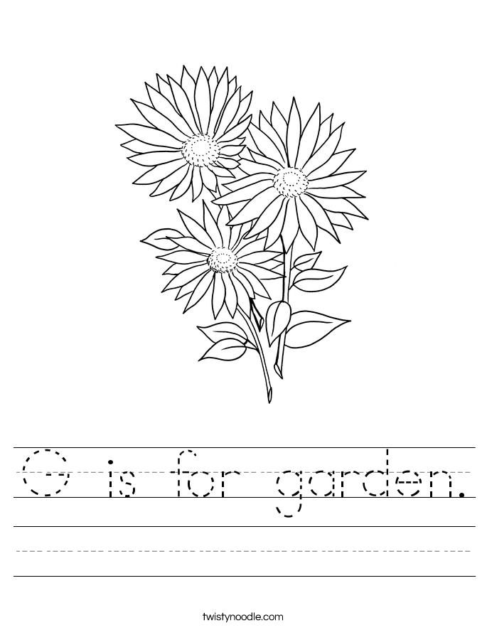 G is for garden. Worksheet