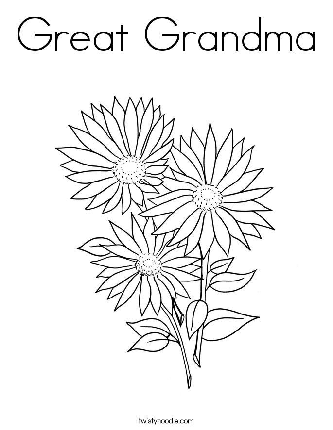 free birthday coloring pages grandmother - photo#49