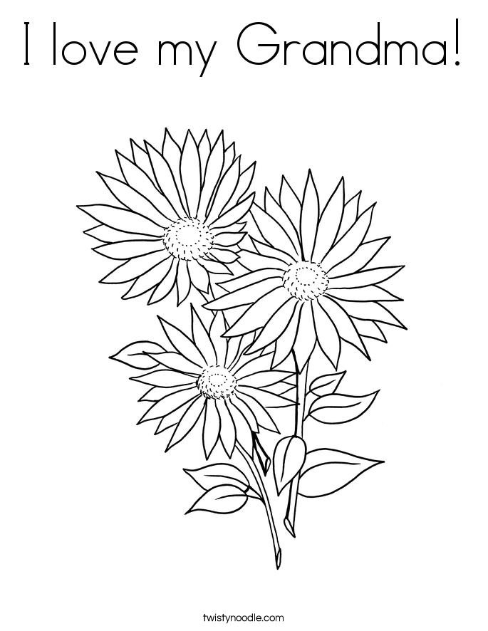 I love my Grandma! Coloring Page