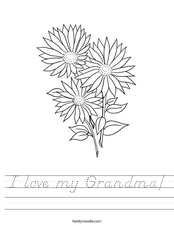 I love my Grandma! Worksheet