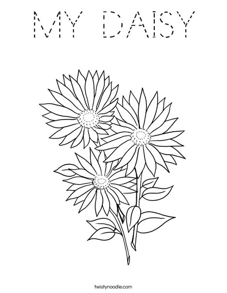 Garden Flowers Coloring Page
