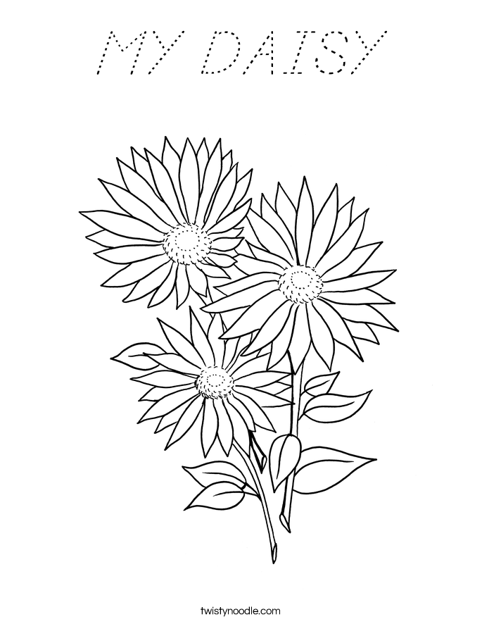 MY DAISY Coloring Page