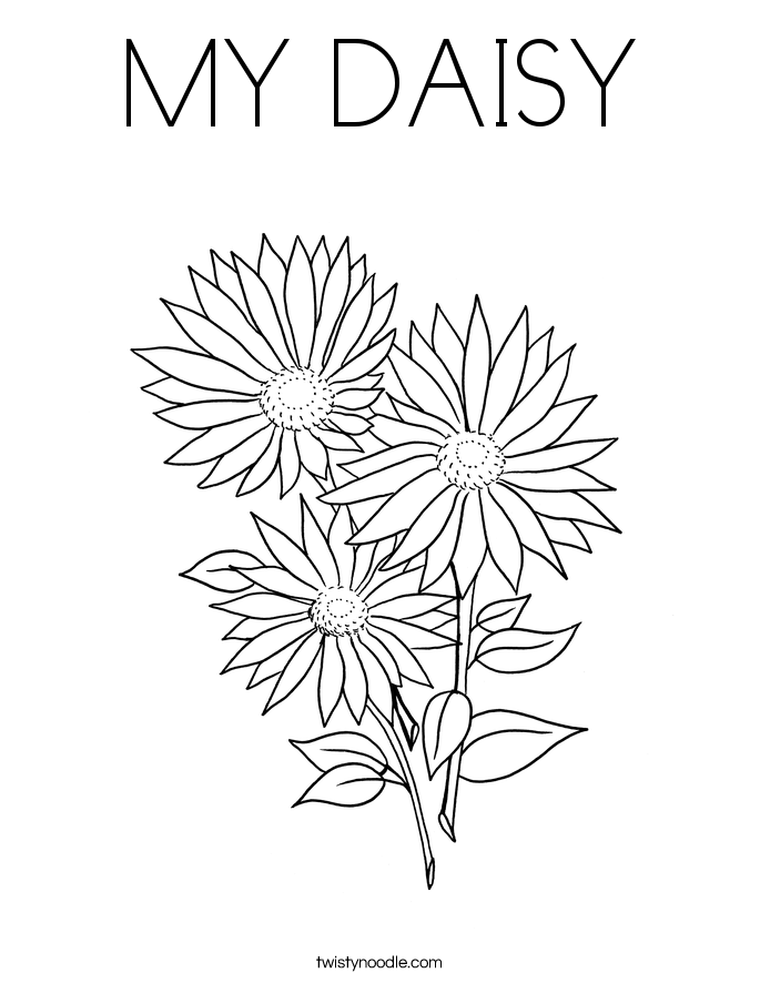 MY DAISY Coloring Page Twisty Noodle