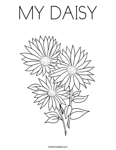 MY DAISY Coloring Page - Twisty Noodle