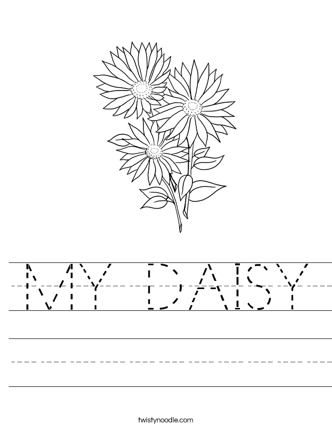 MY DAISY Worksheet