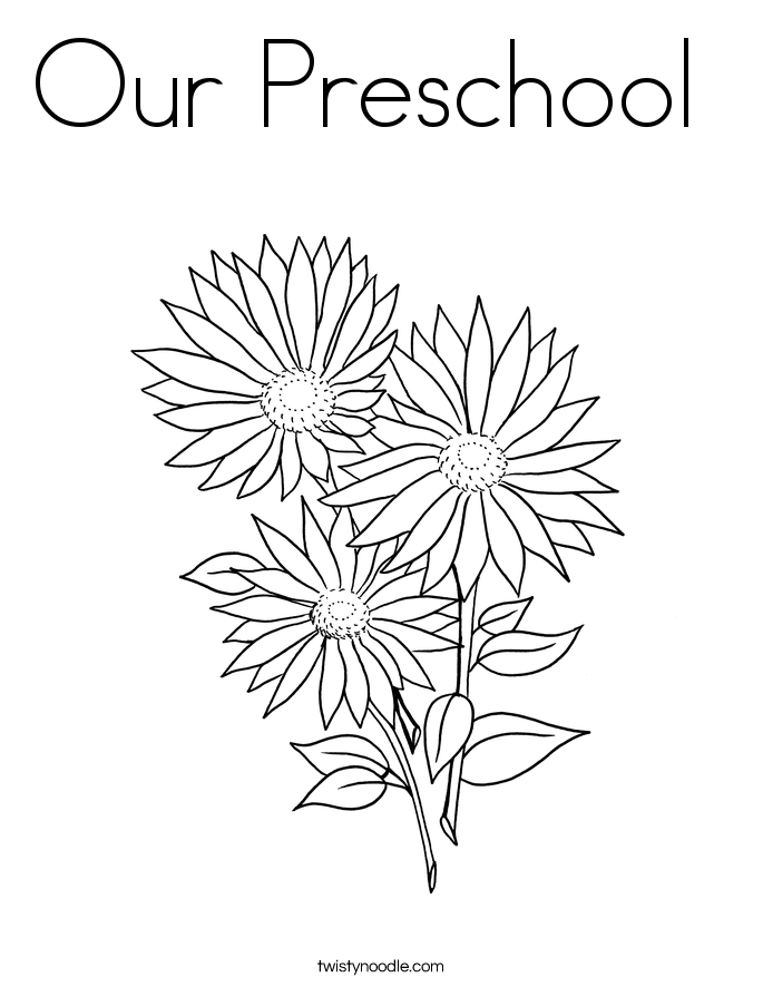 Our Preschool  Coloring Page