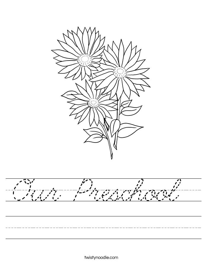 Our Preschool  Worksheet